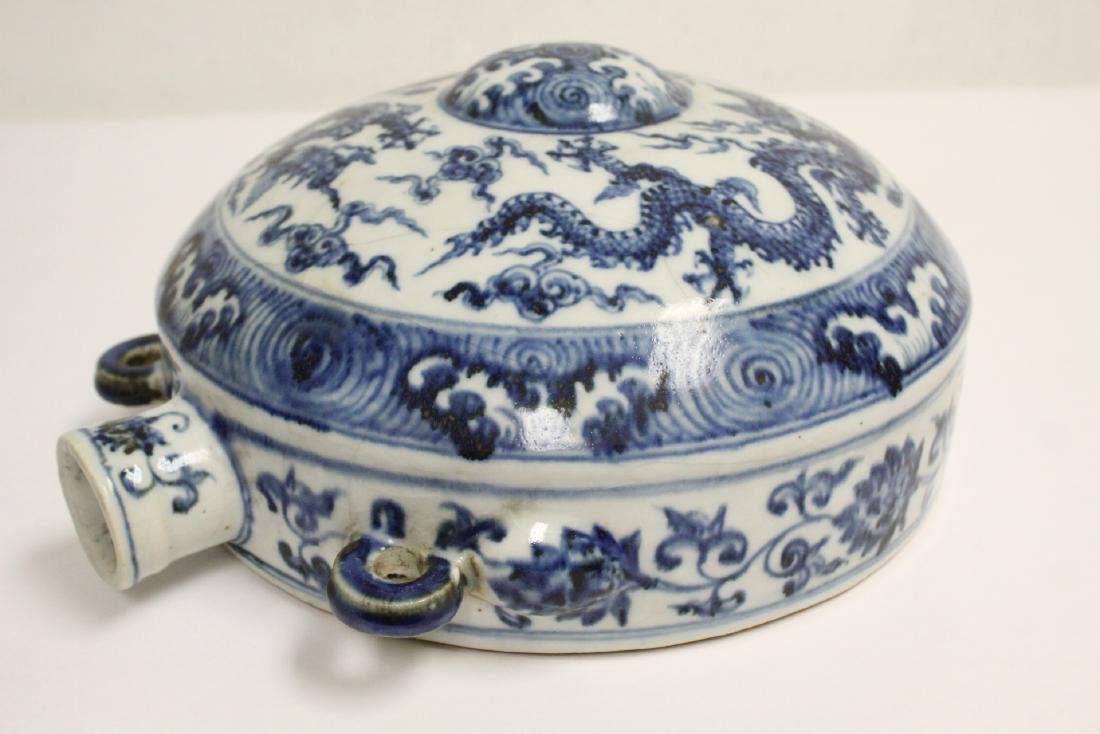 Large Chinese blue and white flask - 9