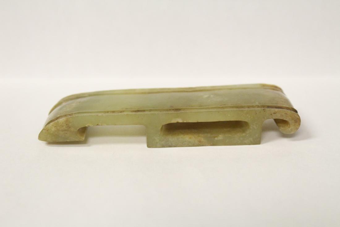 Celadon jade carved sword decoration - 2