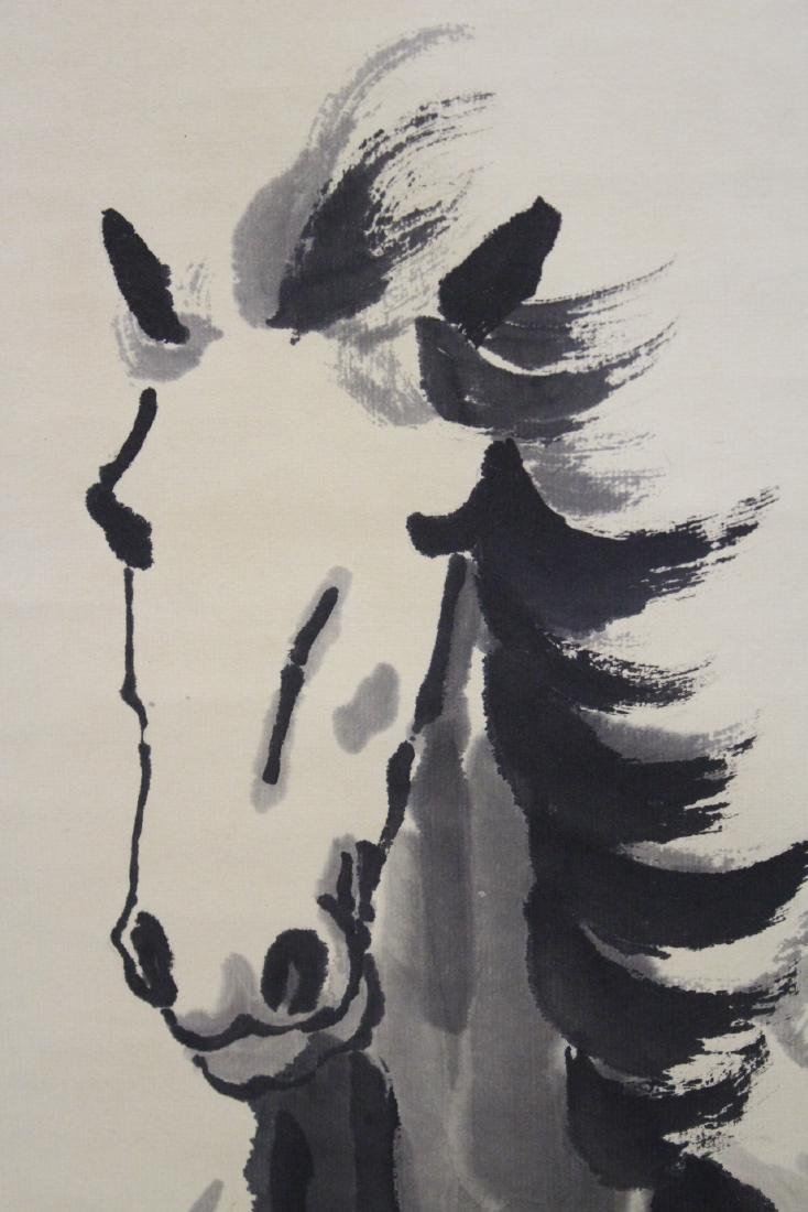 """Watercolor scroll """"horse"""" - 10"""