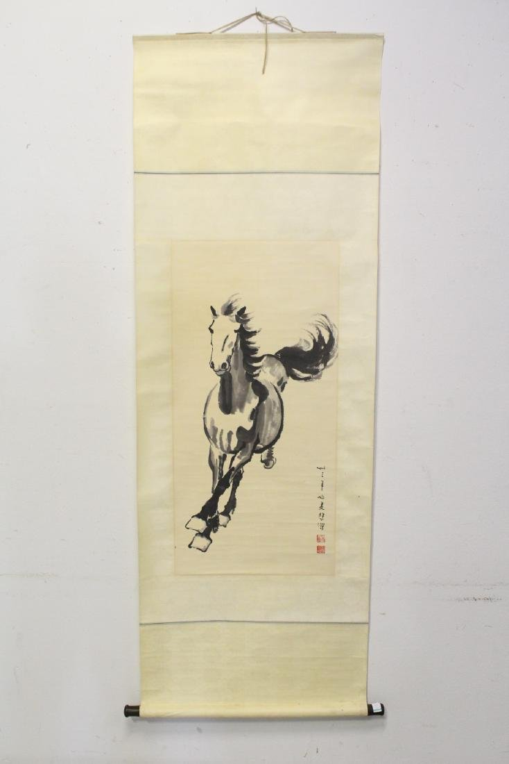 """Watercolor scroll """"horse"""" - 2"""