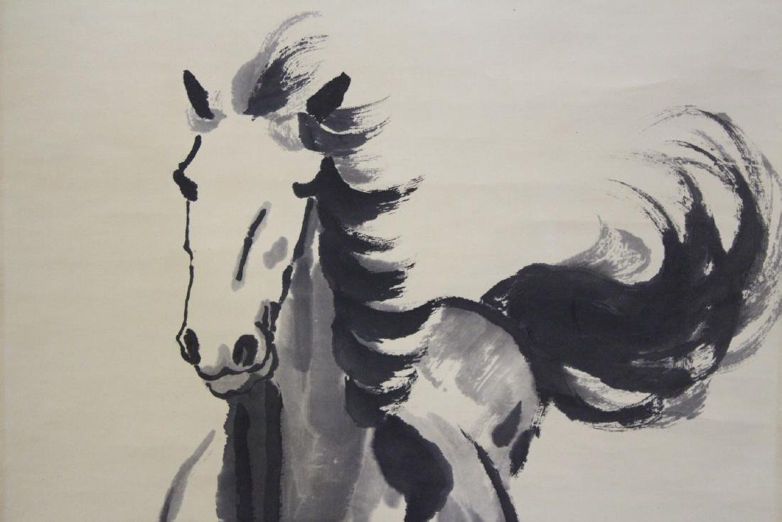 """Watercolor scroll """"horse"""" - 4"""