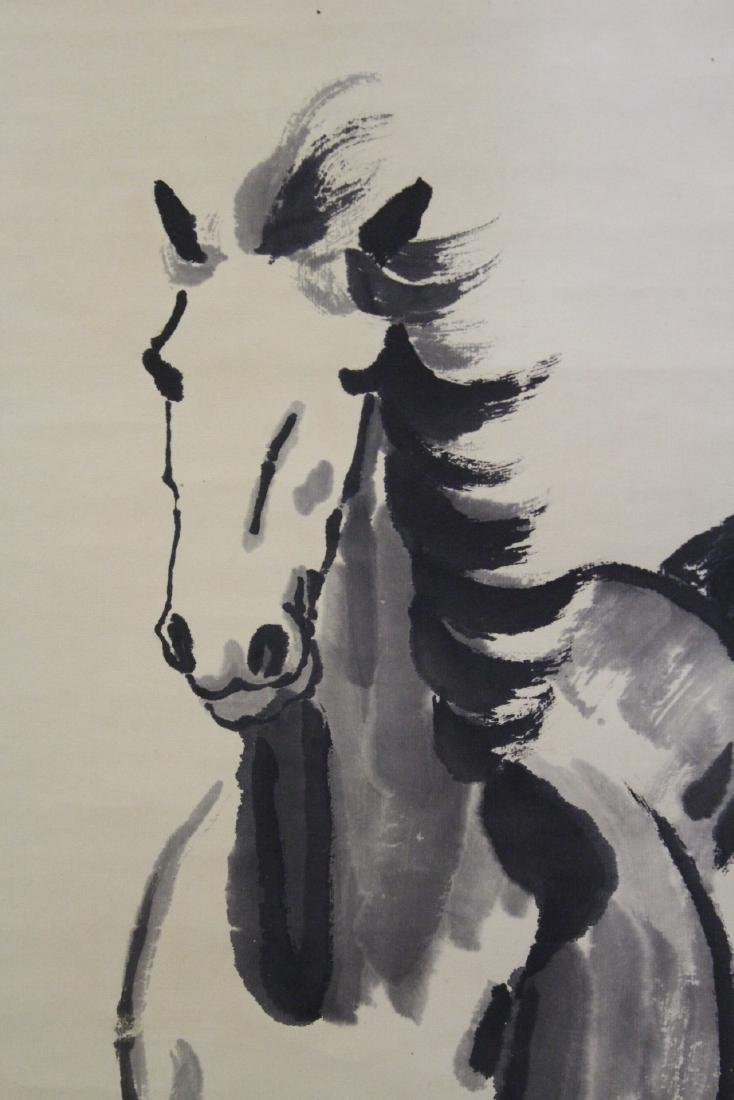 """Watercolor scroll """"horse"""" - 6"""