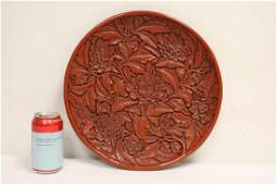 Chinese synthetic lacquer style platter