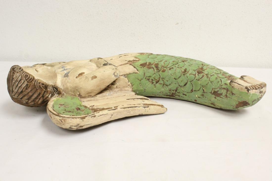 Unusual wood carved angel - 7