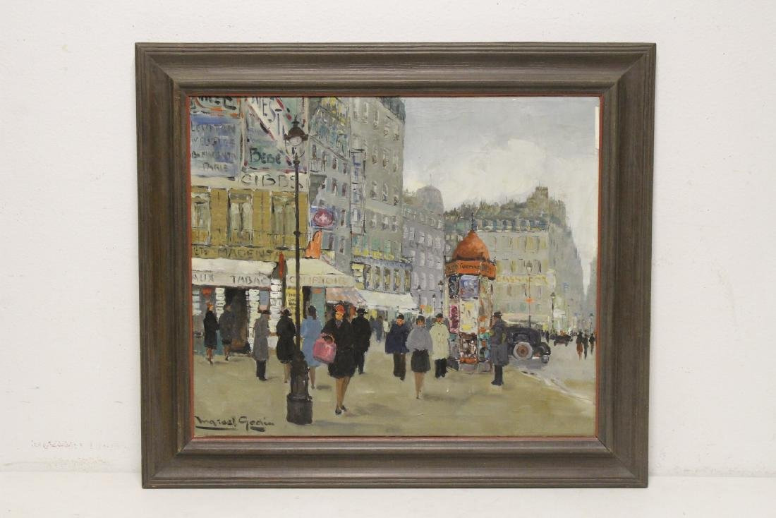 "Oil on canvas ""Paris street scene"""