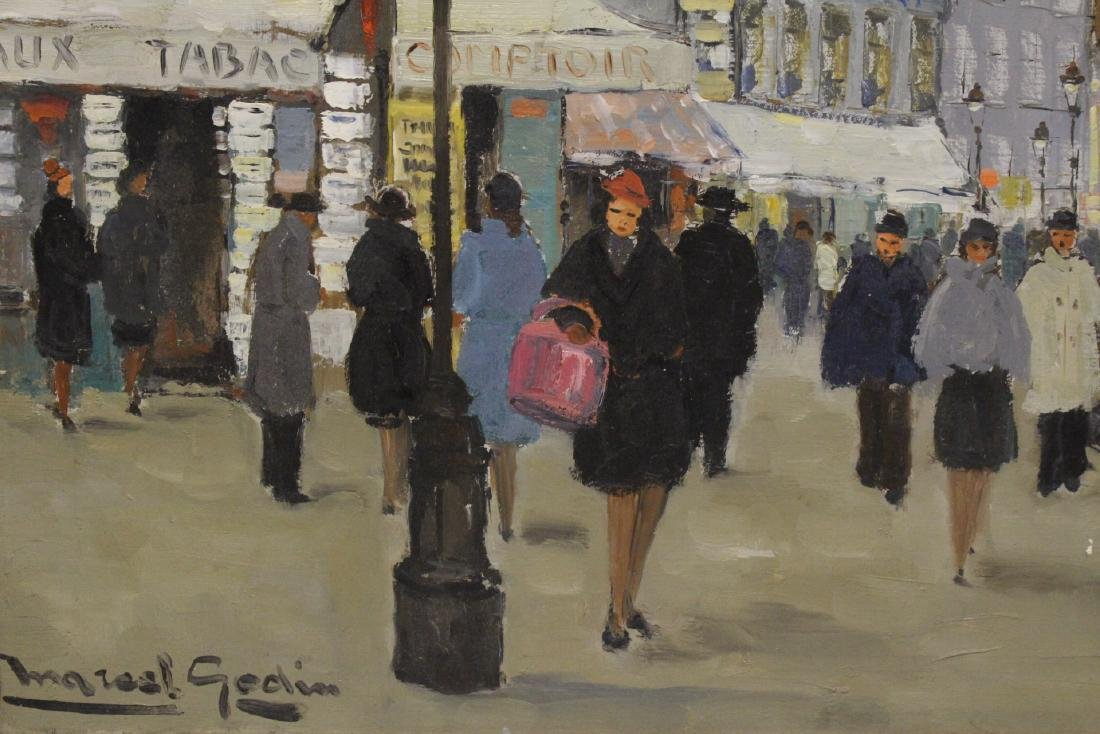"Oil on canvas ""Paris street scene"" - 3"