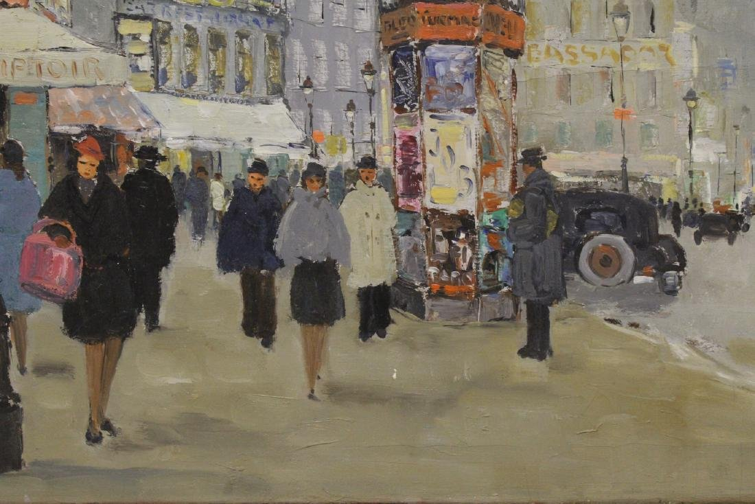 "Oil on canvas ""Paris street scene"" - 4"