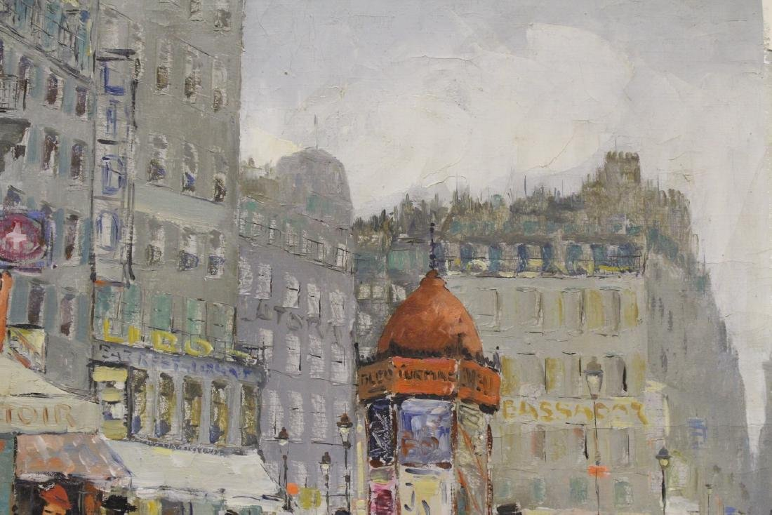 "Oil on canvas ""Paris street scene"" - 5"
