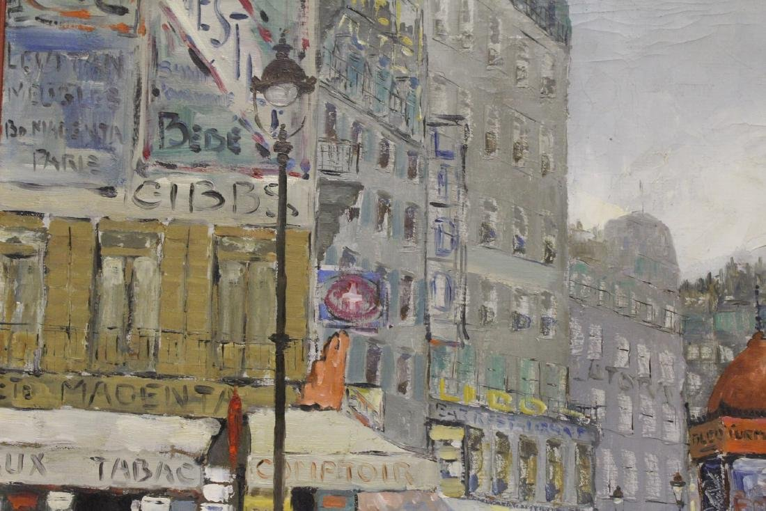 "Oil on canvas ""Paris street scene"" - 6"