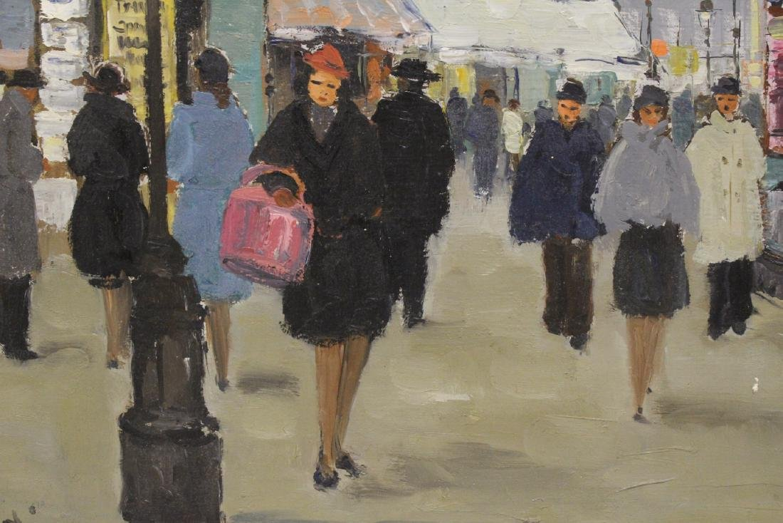 "Oil on canvas ""Paris street scene"" - 8"