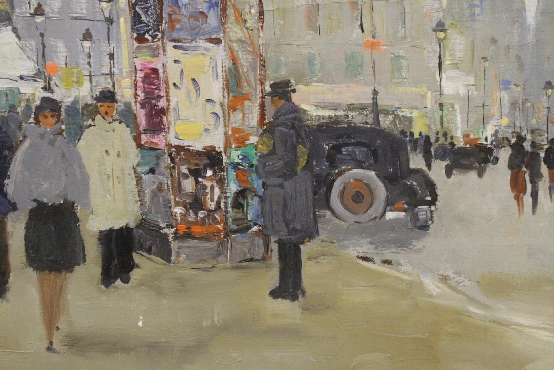 "Oil on canvas ""Paris street scene"" - 9"