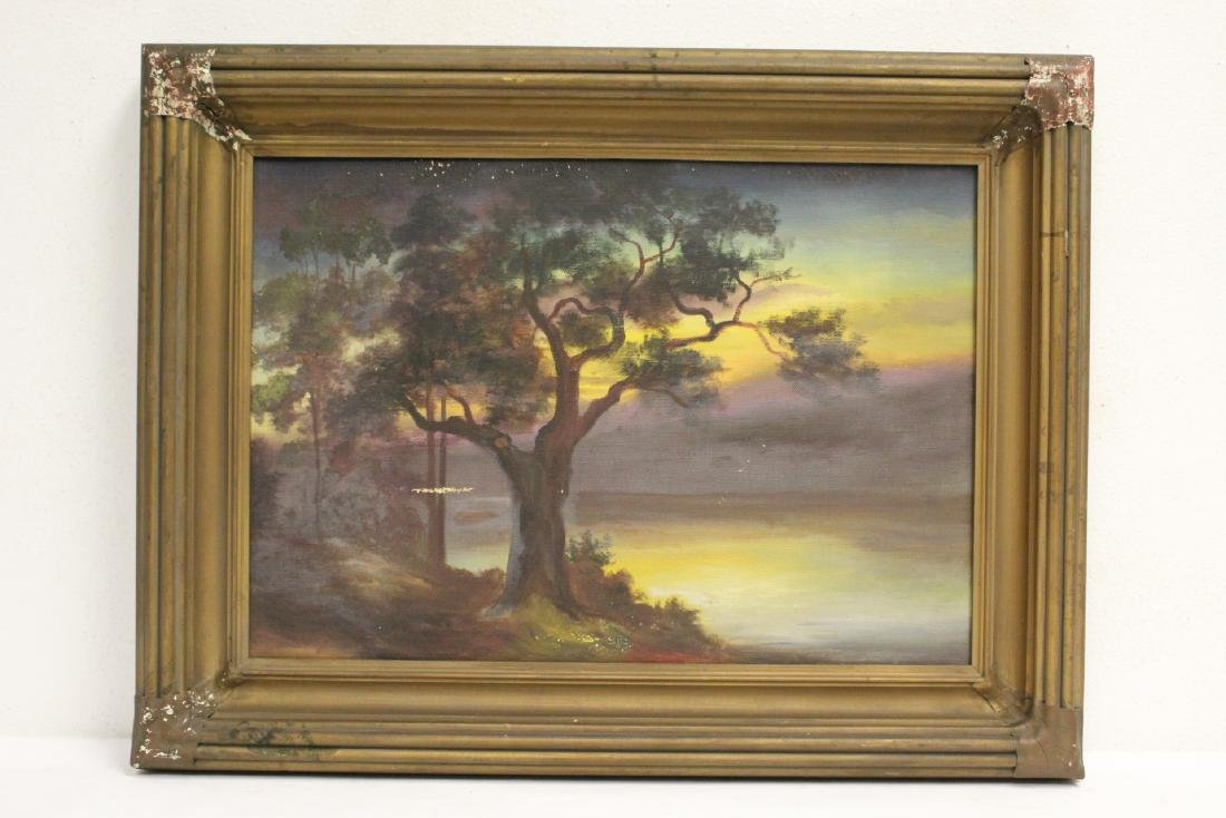 """An early California style painting """"landscape"""""""