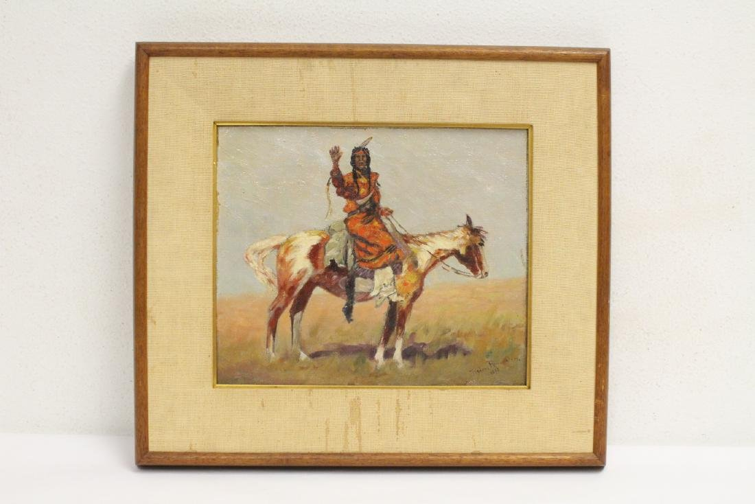 o/c painting, signed Frederic Remington, dated 1895
