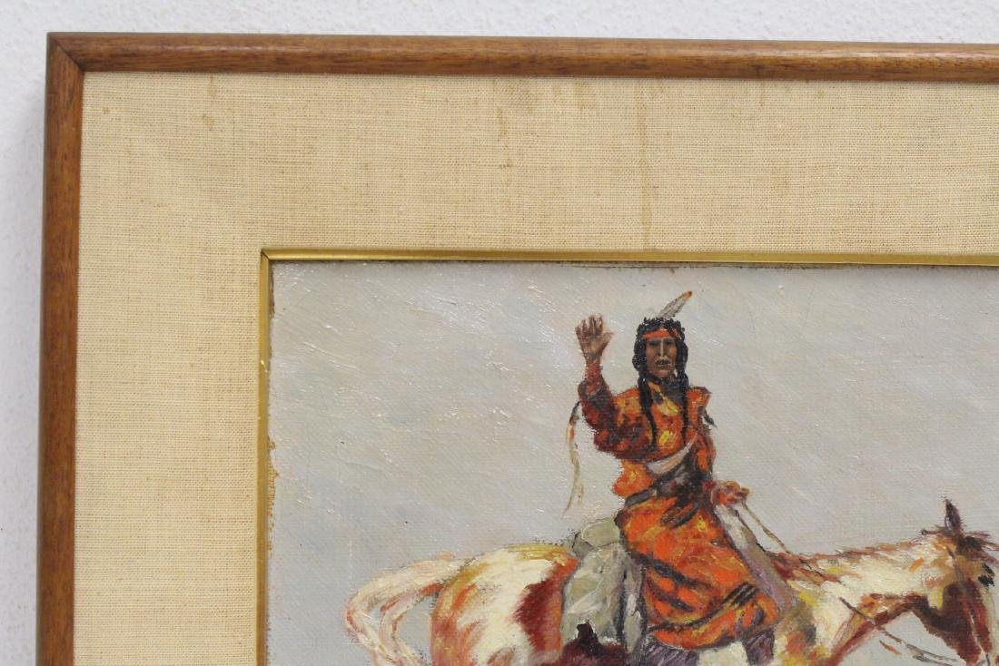 o/c painting, signed Frederic Remington, dated 1895 - 2
