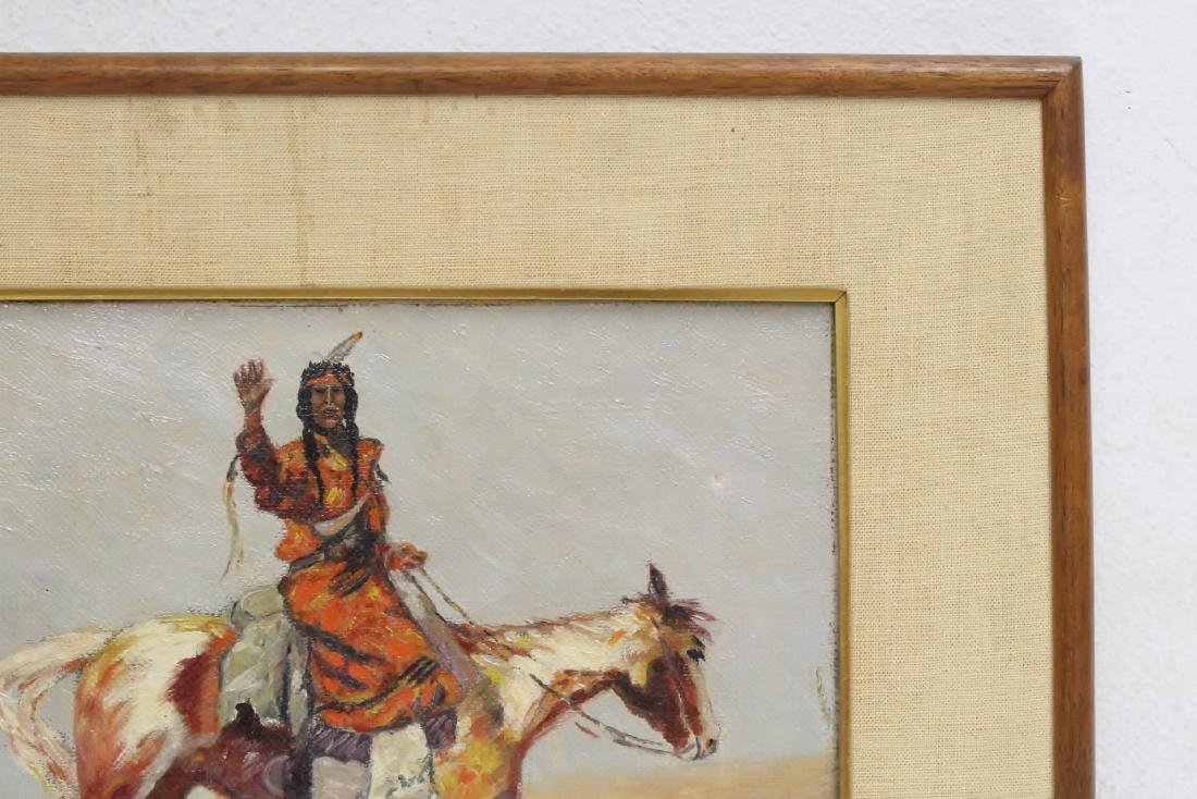 o/c painting, signed Frederic Remington, dated 1895 - 3