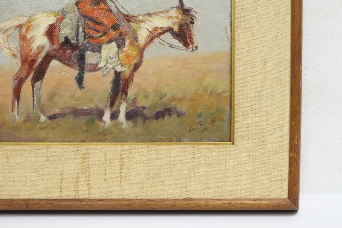 o/c painting, signed Frederic Remington, dated 1895 - 4