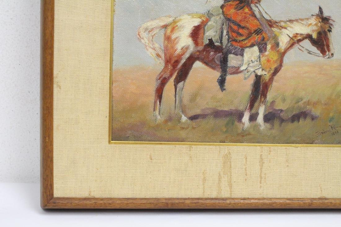 o/c painting, signed Frederic Remington, dated 1895 - 5