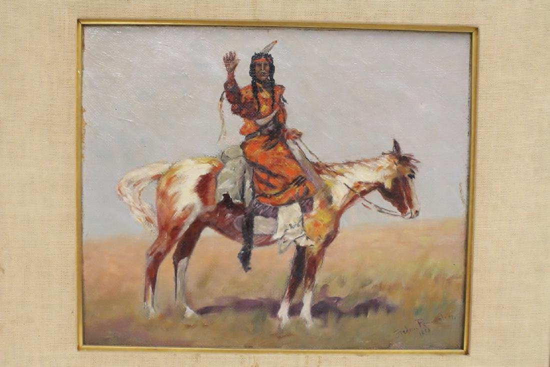 o/c painting, signed Frederic Remington, dated 1895 - 6