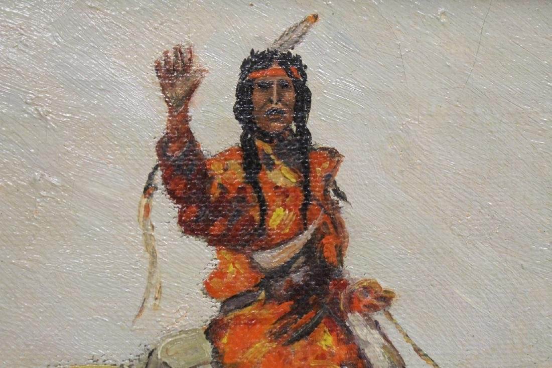 o/c painting, signed Frederic Remington, dated 1895 - 7