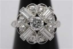 A very beautiful art deco platinum diamond ring