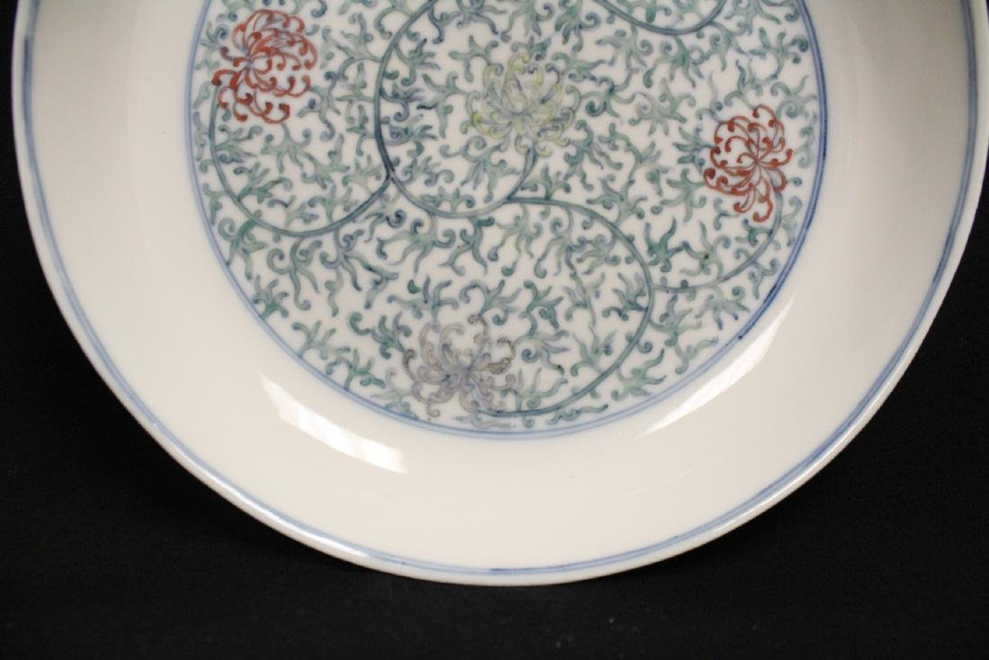 Chinese 18th c. famille rose porcelain plate - 5