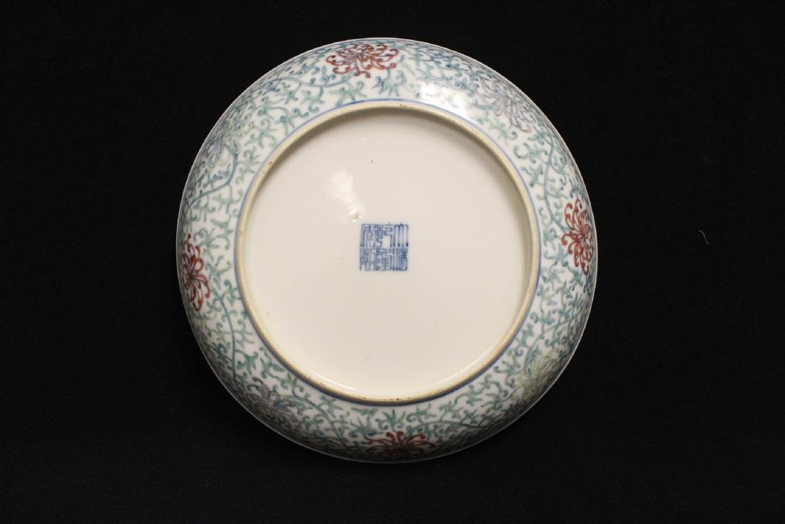 Chinese 18th c. famille rose porcelain plate - 6