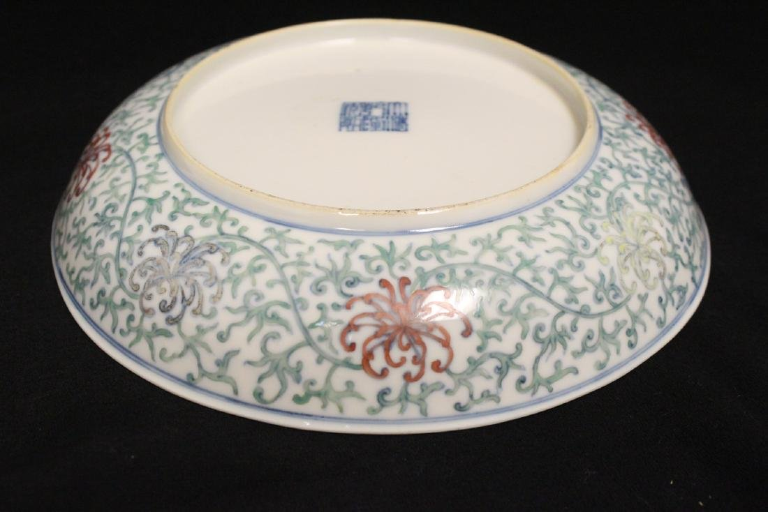 Chinese 18th c. famille rose porcelain plate - 8