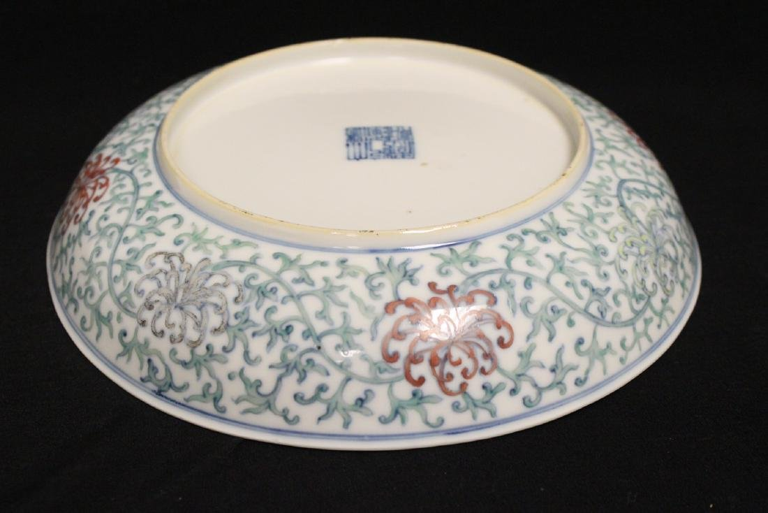 Chinese 18th c. famille rose porcelain plate - 9