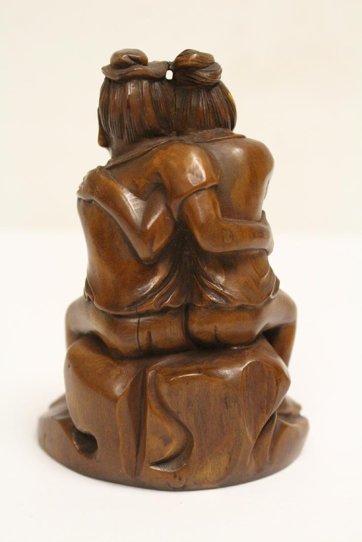 2 huangyang wood carved figures - 10