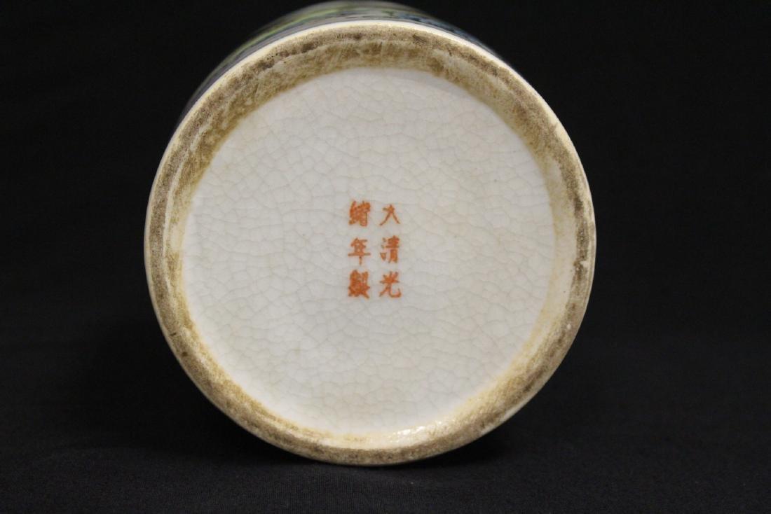 Chinese famille rose porcelain brush holder - 9