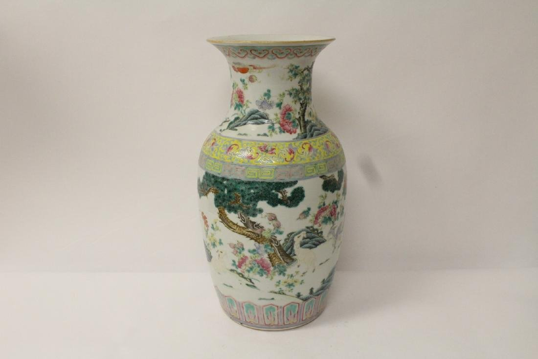 Chinese 18th/19th c. famille rose vase with stand, - 2