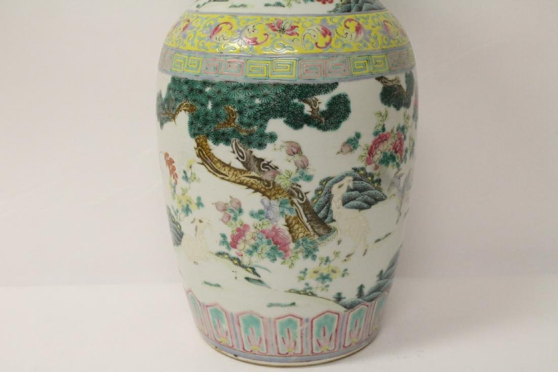 Chinese 18th/19th c. famille rose vase with stand, - 3
