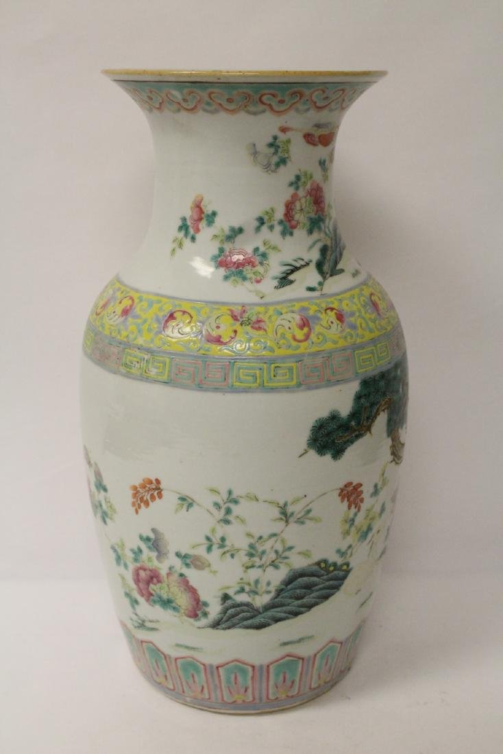 Chinese 18th/19th c. famille rose vase with stand, - 8