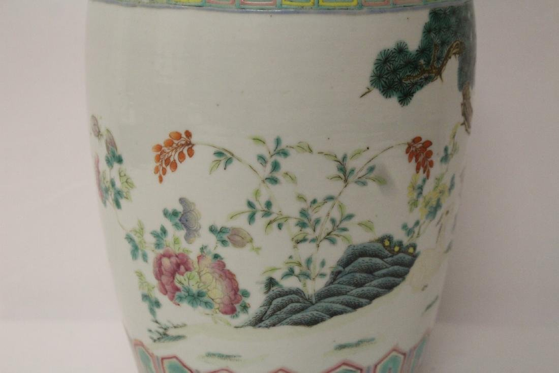 Chinese 18th/19th c. famille rose vase with stand, - 9