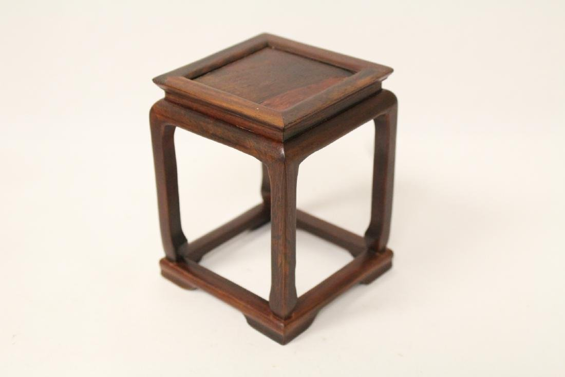 3 piece Chinese rosewood miniature furnitures - 10