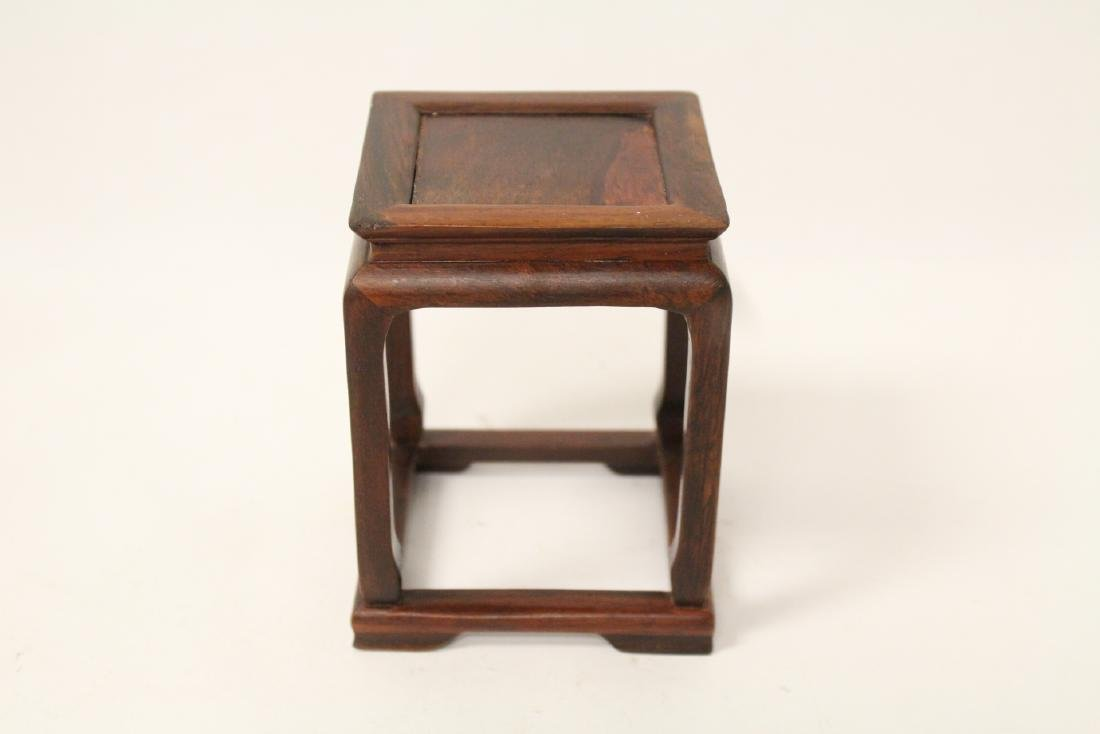 3 piece Chinese rosewood miniature furnitures - 9