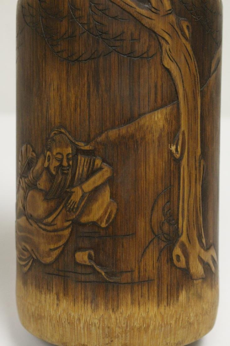 Bamboo carved brush holder - 10