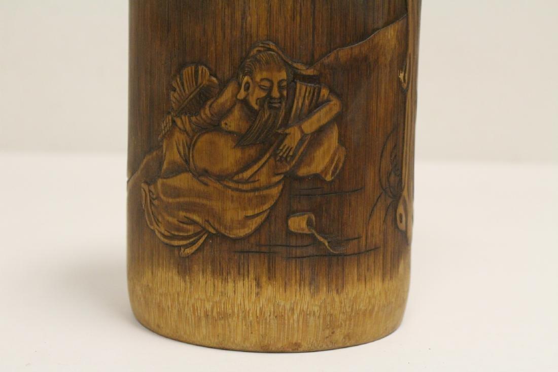 Bamboo carved brush holder - 8