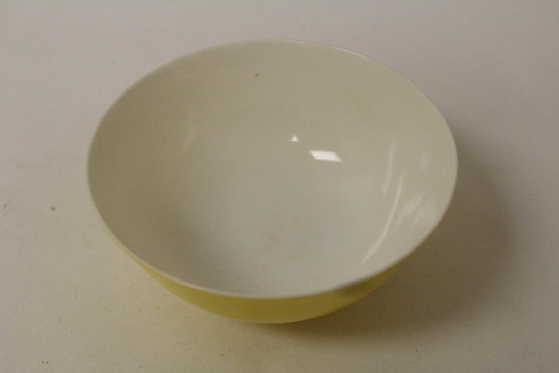A fine Chinese yellow glazed porcelain bowl - 5
