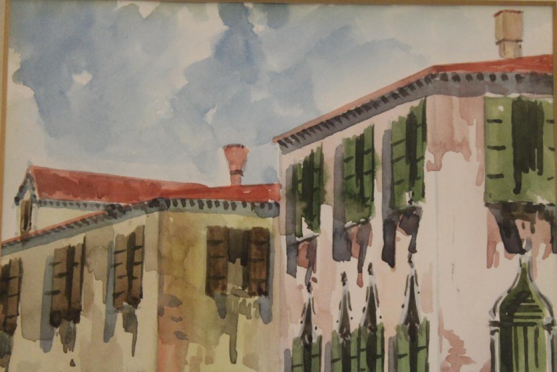 "2 framed watercolor ""Venice"" - 10"