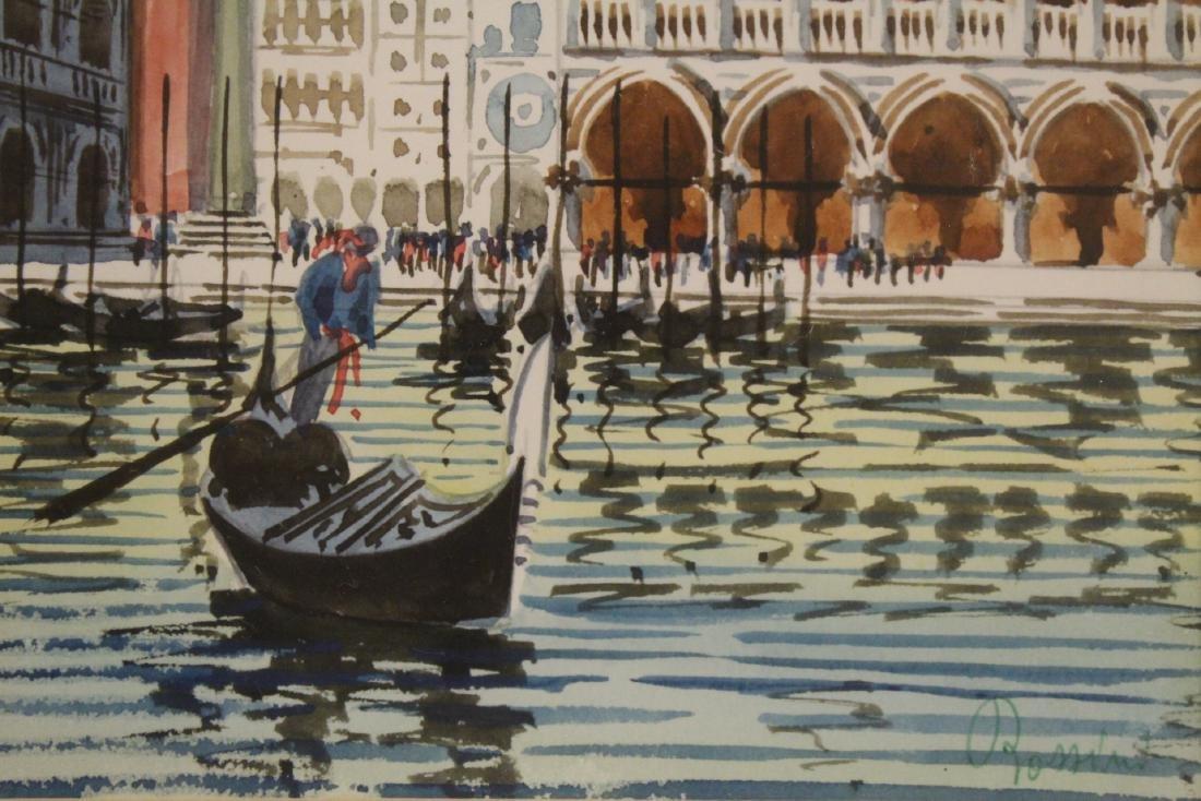 "2 framed watercolor ""Venice"" - 4"