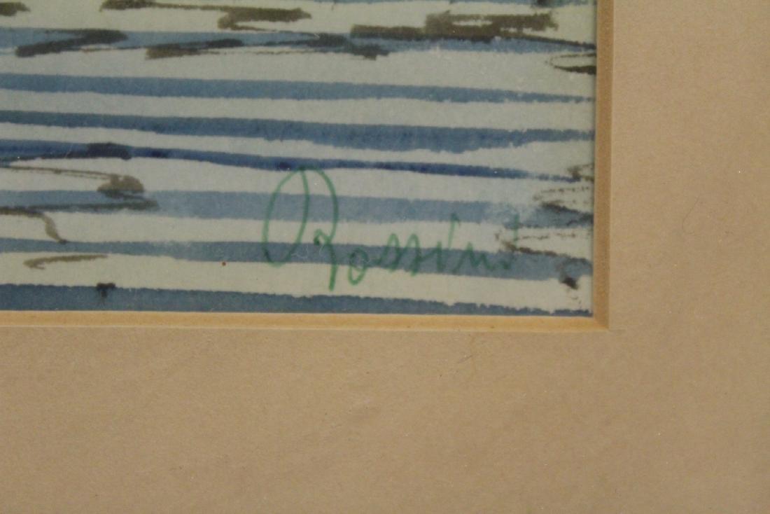 "2 framed watercolor ""Venice"" - 5"