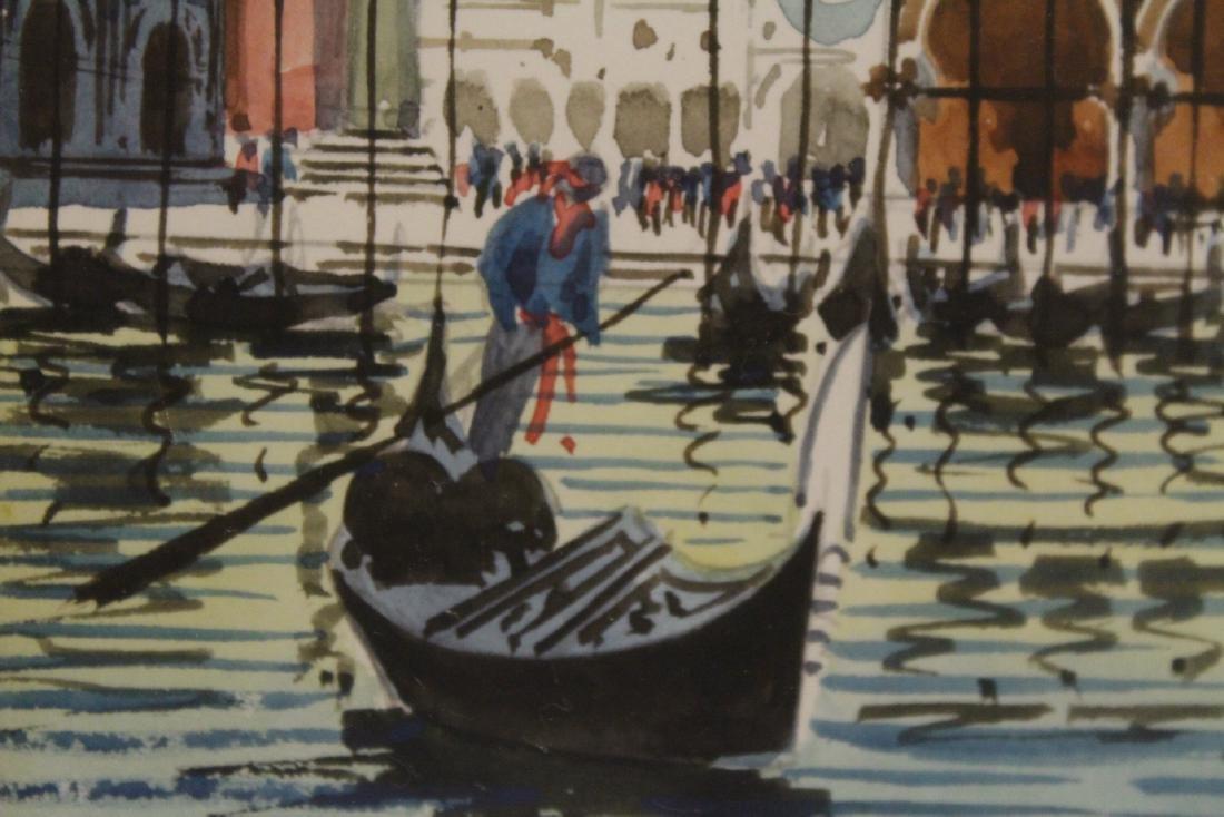"2 framed watercolor ""Venice"" - 6"