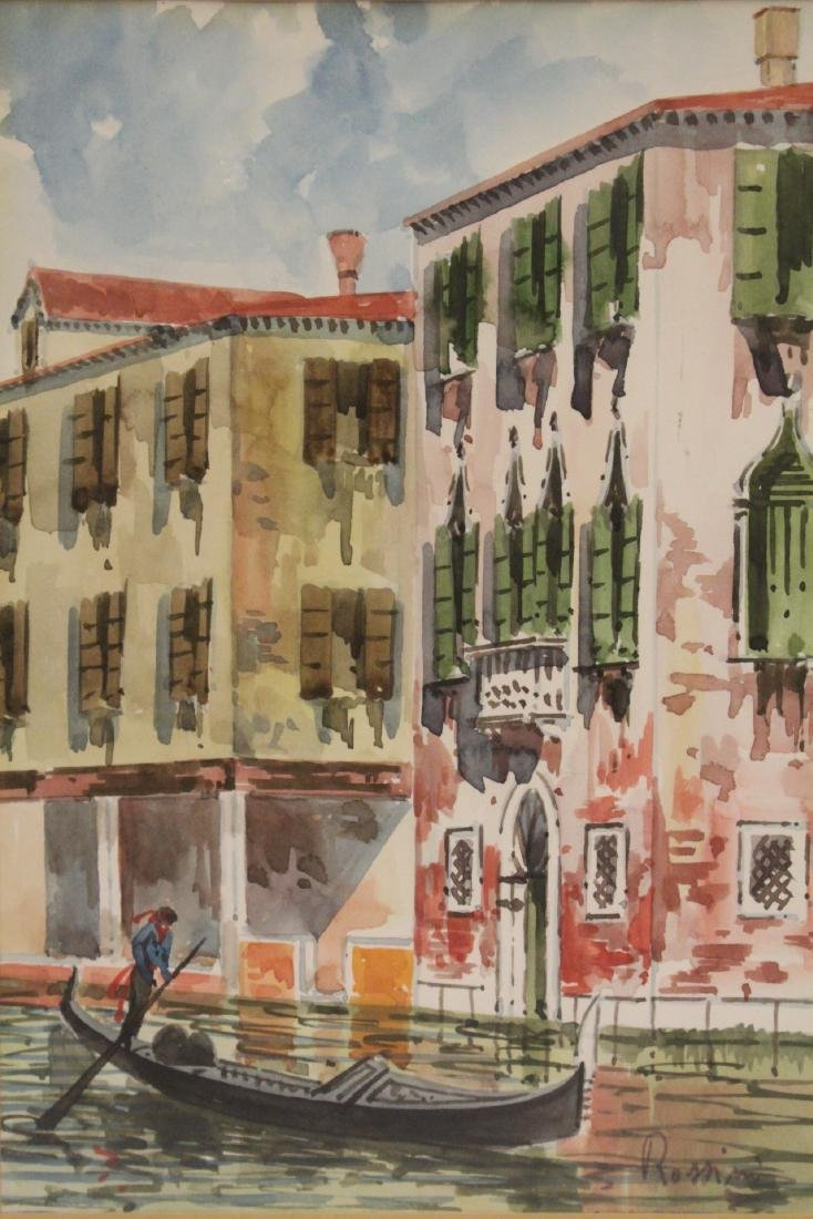 "2 framed watercolor ""Venice"" - 8"