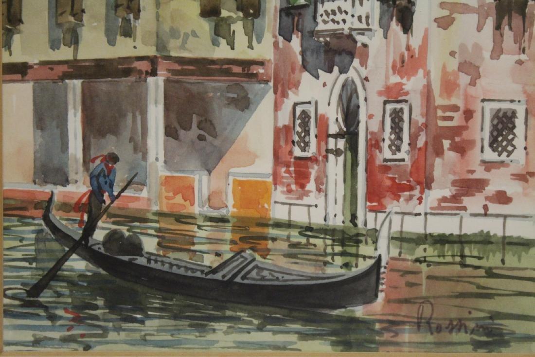 "2 framed watercolor ""Venice"" - 9"
