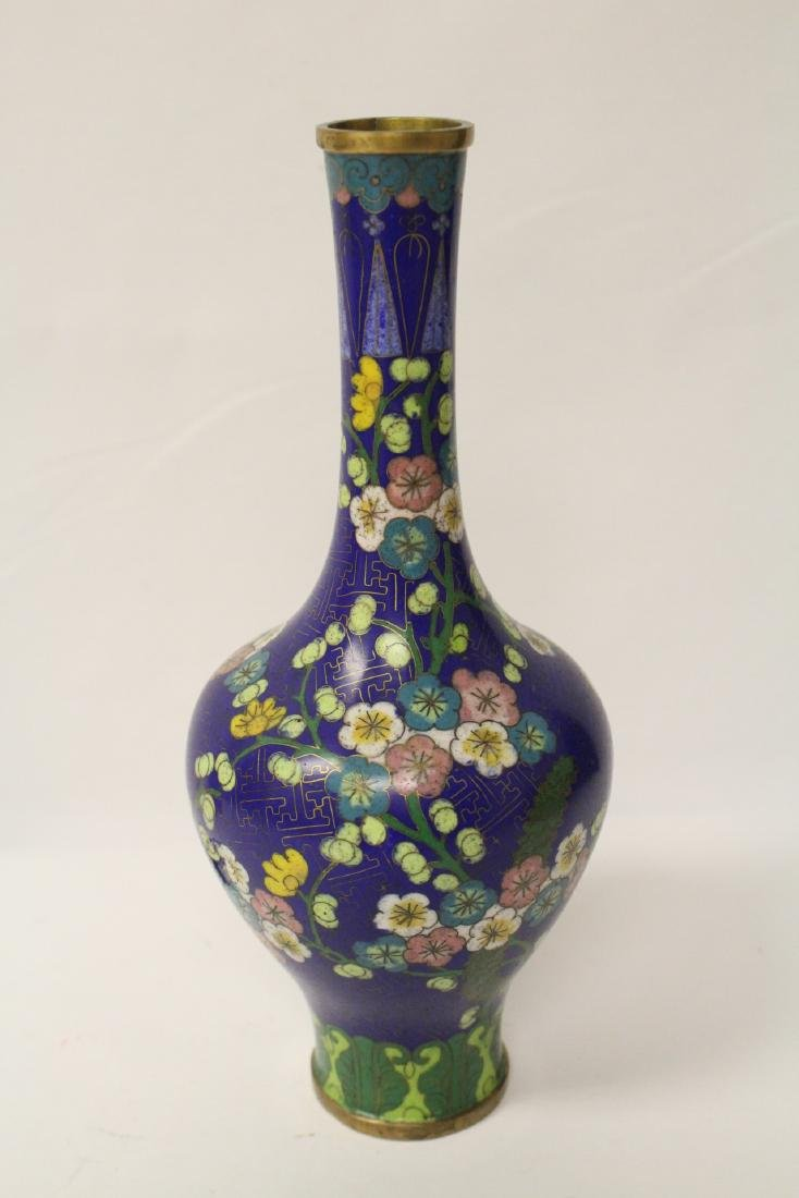 3 Chinese 19th/20th century cloisonne vases - 3