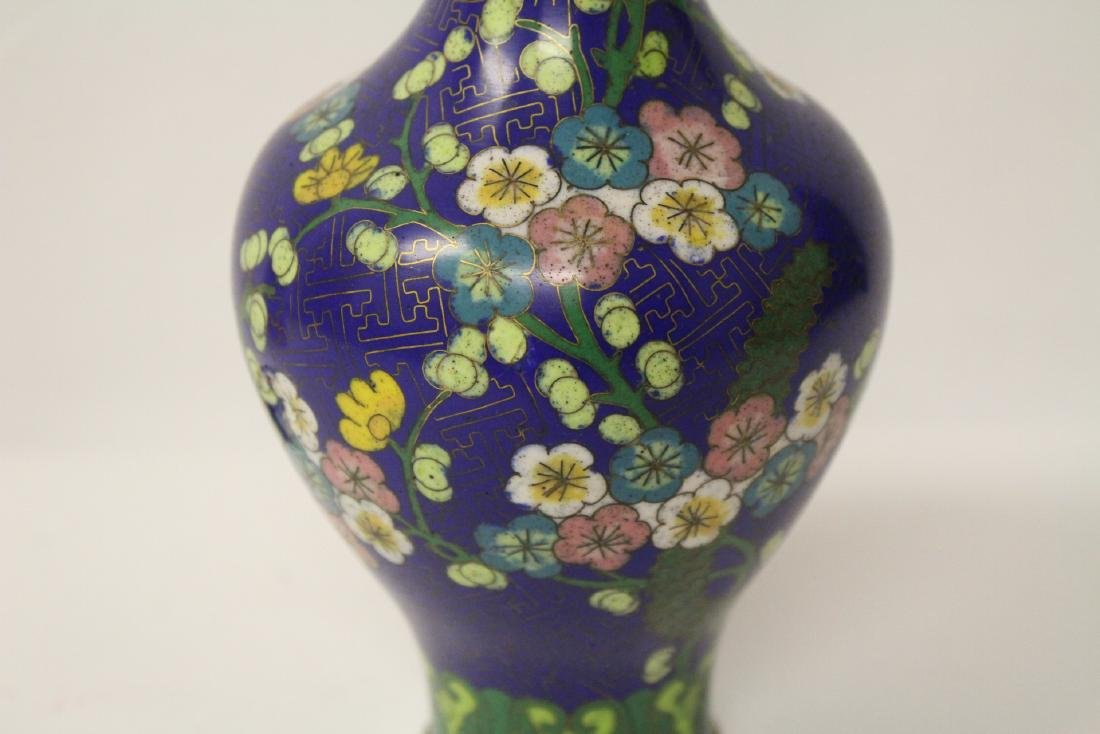 3 Chinese 19th/20th century cloisonne vases - 4