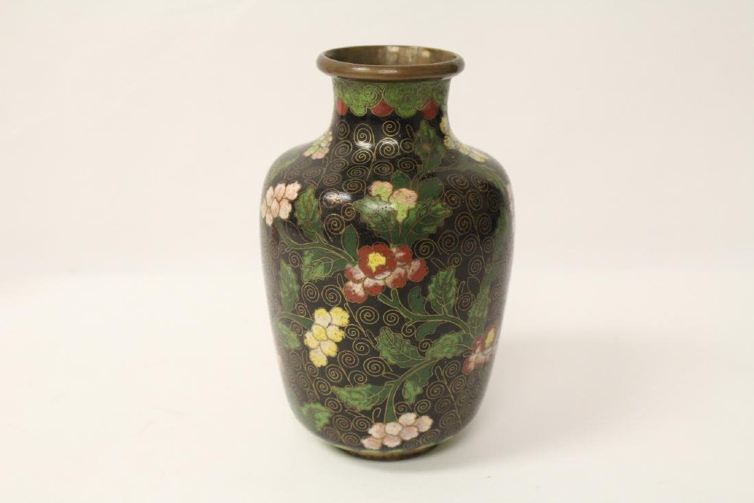 3 Chinese 19th/20th century cloisonne vases - 5
