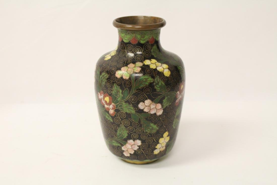 3 Chinese 19th/20th century cloisonne vases - 6