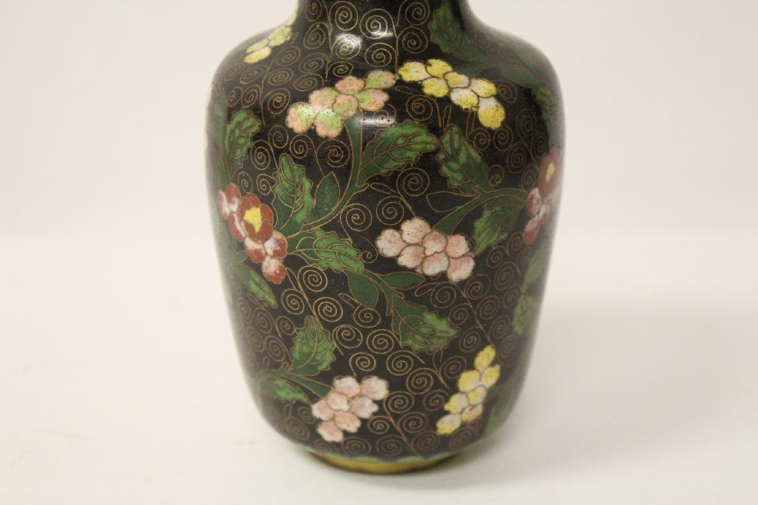 3 Chinese 19th/20th century cloisonne vases - 7